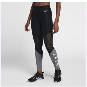 NWT Nike Power Women's Mid-Rise attaining Tights
